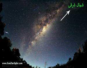 جهت یابی به کمک کهکشان راه شیری - آموزش انواع جهت یابی - آموزشهای طبیعت گردی - ایران در سفر