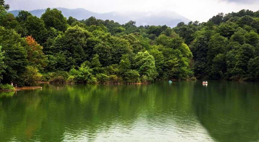 دریاچه فراخین در نوشهر استان مازندران - دریاچه های ایران